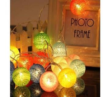 LED Cotton Ball String Lights