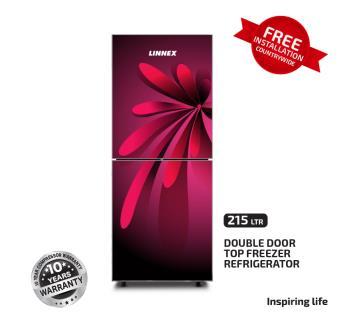 Linnex Refrigerator LNX-REF-215GD-TM-RED Leaf