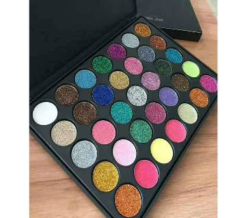 Morphe 35 Colors Eyeshadow Palette Matte Diamond Glitter Foiled Eye Shadow in One Palette Blush China