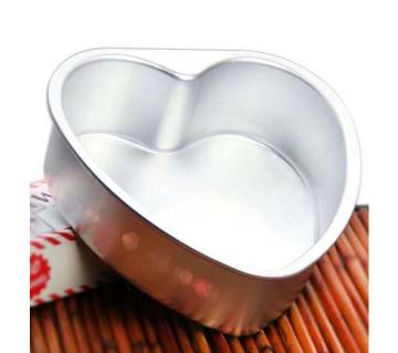 Love Shape Cake Baking Mould - Silver