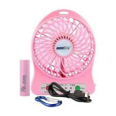 Mini USB Rechargeable Portable Fan - Pink