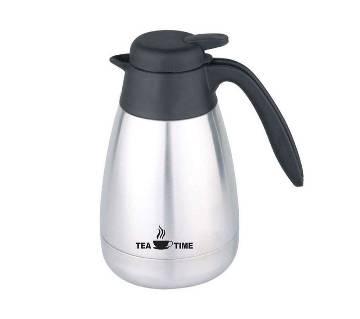 OTP600L Vacuum Tea Pot White Colour On S/S Body - Silver