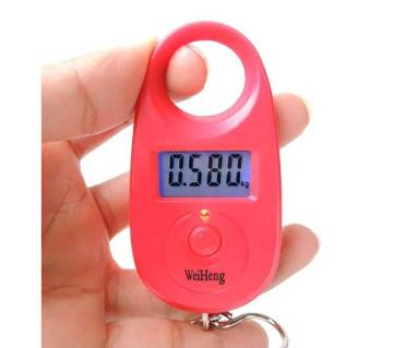 Hanging Luggage Weight Scale - Red