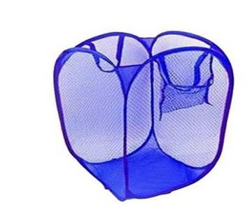 Washing Fold-able Laundry Basket - Blue