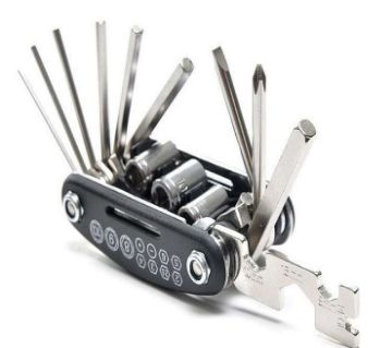 16 in 1 Bike Pocket Repair Tools Set Bicycle Multifunctional Tool Kit
