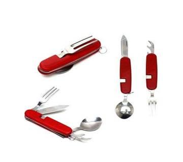 Fork Spoon Multi Tool - Red