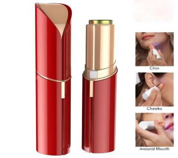 Painless Flawless Facial Hair Remover/Removal For Women with AA Battery (Red)
