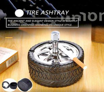 ORIGINAL Portable Car Wheel Style Ashtray Cigarette Cigar Smoke Holder