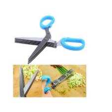 5 Blade Kitchen Scissors - Blue