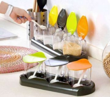 4 Pcs Fashion Condiment Set - Multi-Color