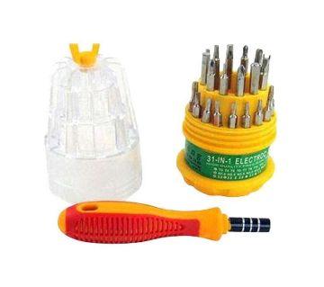31-in-1 Screwdriver Tool Set - Yellow