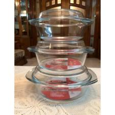 Oven Proof Glass Bowl with Glass Lid - Transparent