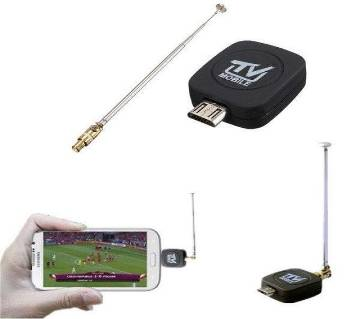 Mini Micro USB DVB-T Digital Mobile TV Tuner Receiver রিসিভার - কালো