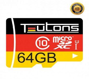 64GB TEUTONS MicroSD Memory Card
