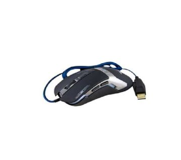 HV-MS739 2400DPI Adjustable USB Wired Gaming Mouse - Black