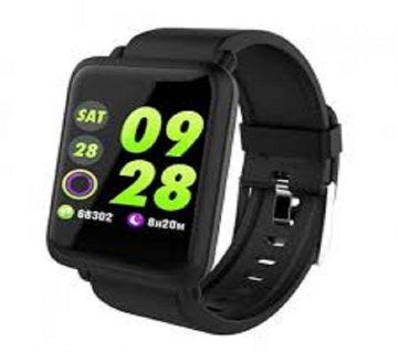 M28 সিমলেস ব্লুটুথ স্মার্ট ওয়াচ - Black M28 Bluetooth Smart Watch - Black ঘরি