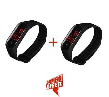 Fashion New Sports Bracelet LED Digital Watch Unisex -Black