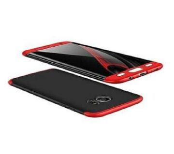 GKK 360 FULL Protection ULTRA SLIM FIT Case Cover for OnePlus 5 - Black and Red