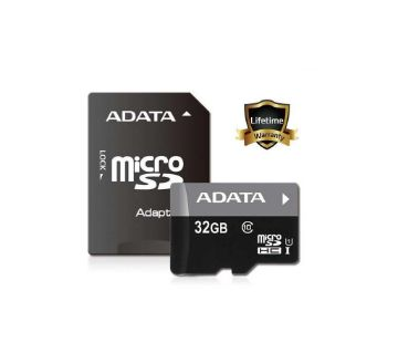 Adata Micro SD Card - 32 GB Black
