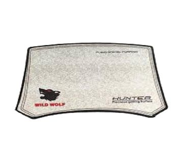 Hunter Wild Wolf Mouse Pad - White
