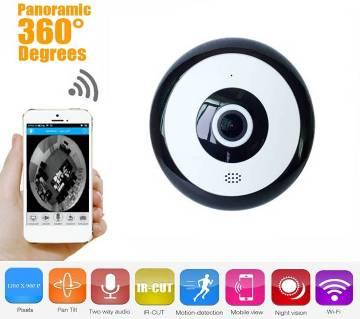 Fisheye 360 Degree Panoramic Wireless WiFi IP CCTV সিকিউরিটি ক্যামেরা