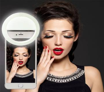 Rechargeable সেলফি রিং লাইট with LED Camera Photography Flash Light Up Selfie Luminous Phone Ring with USB Cable Universal