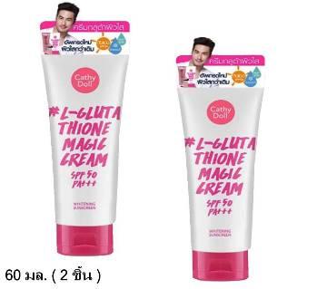 Cathy Doll Whitening Sunscreen L-glutathione Magic Cream Spf50PA 60ml Thailand