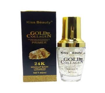Kiss Beauty 24K Gold & Collagen মেকআপ বেজ - 40ml - China