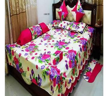 8 Pieces Cotton Bedsheet Set