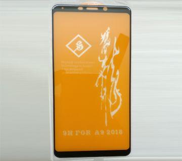 9H Full Cover 6D টেম্পার্ড গ্লাস প্রটেক্টর For Samsung Galaxy A9 (2018)