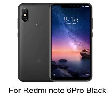 6D টেম্পারড গ্লাস প্রটেক্টর For Xiaomi Redmi Note 6 Pro Black