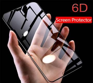 6D টেম্পারড গ্লাস প্রটেক্টর For Huawei Honor 8C Black