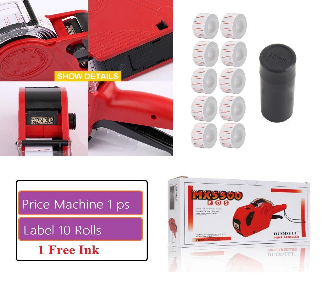 MX5500 EOS  8 Digits প্রাইসিং গান কিট  with 6,000 Labels (10 Roll) & 1 Spare Ink বাংলাদেশ - 1174006