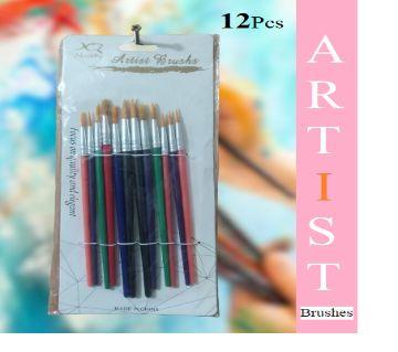 Artist Brushes (Different Size) - 12pcs