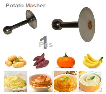 Potato Masher Stainless Steel  Silver 1Ps