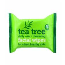 Tea Tree Cleansing facial wipes - 25 Wipes - UK