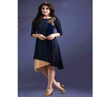 Unstitched Blue Georgette Kurti for Women