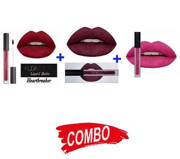 HUDA Beauty Liquid Matte Lipstick (3 Colors) - Combo Offer