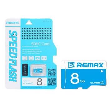 Remax 8GB Class 6 TF Micro SD Memory Card - Blue