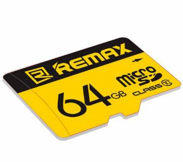Remax 64GB Class 10 Micro SD Memory Card - Black and Yellow