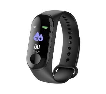 Smart Waterproof Wristband Men M3 - Black