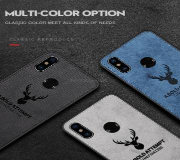 Clothing Texture ব্ল্যাক কেইস -Note 5 Pro