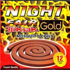 Night Fair JIKJAK GOLD Mosquito Coil - 3 Packet