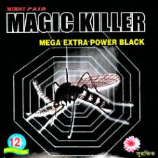 Night Fair Magic Killer Mega Extra Power Black Mosquito Coil - 4 pack