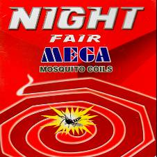 Night Fair Mega Mosquito Coil - 4 Packet