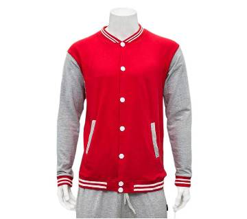 Gents Full Sleeve Red Varsity Sweater