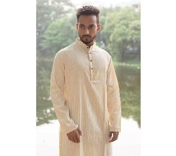 Golden Stripe Cotton Punjabi