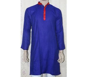 Menz Semi Long Cotton Punjabi