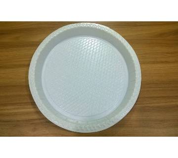 OZ Disposable Clear Plastic plate - 100 Pcs