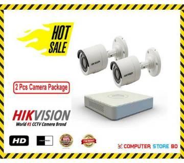 CCTV Camera (2 Pcs Camera Package-Hikvision)